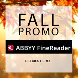 ABBYY's FineReader November Promotion! Exclusively through Lifeboat!